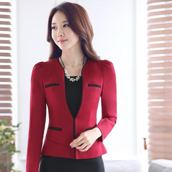 Spring Fall Formal OL Styles Professional Business Women Blazers Ladies Jackets Outwear Blazer Coat Female Work Wear Tops Blaser