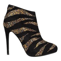 New Roberto Cavalli CRYSTAL EMBELLISHED ANKLE BOOTS 37.5