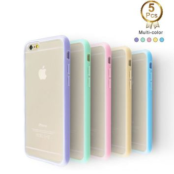 iPhone 6 Case Pack of 5 Ace Teah Case for iPhone 6 Features Hard Back Cover