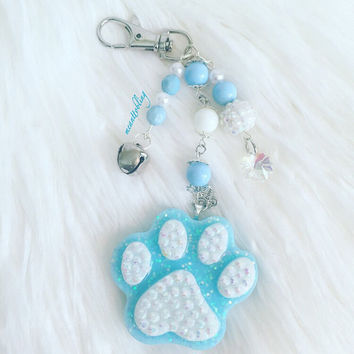Kitten Paw Purse Charm, Kitten Charm, Paw Charm, Gift Keychain, Cat Lovers Gift, Cat Charm, Cute Keychain