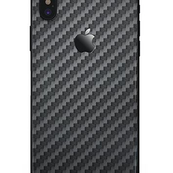 Carbon Fiber Texture - DesignSkinz Ultra-Thin / Precision-Fit Skin for the iPhone X / Soft Matte Finish