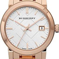 Burberry Women's BU9104 Heritage Rose Gold-Plated Stainless Steel Watch