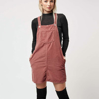 Women MOTO Cord Pinafore Dress corduroy Suspender Dress Braces Dresses