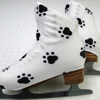 Puppy Dog Paw Skate Boot Covers / figure Skating / Ice Skating /  Roller Skating