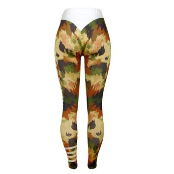 2017 Sexy Women Workout Sporting Leggings For Joggers Fitness legging high waist Elastic Gym leggings Athletic Trouser #EW