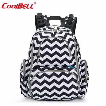 CoolBell Mummy Maternity Bag Waterproof Baby Stroller Bag Big Capacity Travel Backpack With Insulated Pockets