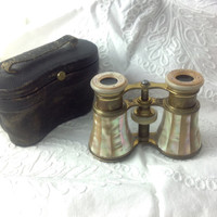 Antique French Opera Glasses Lemaire F1 Paris MOB Mother of Pearl 19th Cenury Victorian Era
