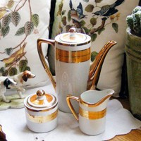 MidCentury Porcelain Coffee Set  SALE by GSArcheologist on Etsy