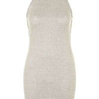 Ribbed Roll Neck Bodycon Dress - Topshop