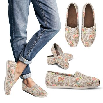 Floral Horse Casual Shoes