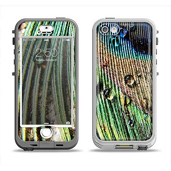 The Watered Peacock Detail Apple iPhone 5-5s LifeProof Nuud Case Skin Set