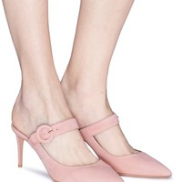 Aquazzura | 'Blossom' suede Mary Jane mules | Women | Lane Crawford - Shop Designer Brands Online