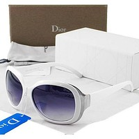 Dior Popular Women Men Personality Sun Shades Eyeglasses Glasses Purple White Frame I