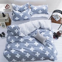 ParkShin Geometric Bedding Set Plus Duvet Cover Set Twin Full Queen King Bedclothes Active printing 4pcs Bed Linen