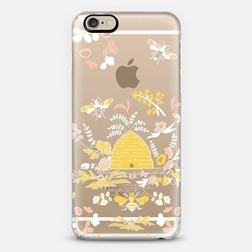 Bee Hive Floral Transparent iPhone 6 case by Very Sarie | Casetify
