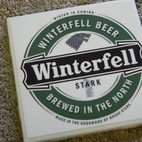 Game of Thrones Complete Five House Set Ceramic Tile Beer Coasters