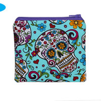 NEW Debit Card Wallet | Credit Card Wallet | Change Purse | Coin Purse | Sugar Skulls | Day of the Dead