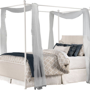 1999 McArthur Canopy Bed Set - Off-White Finish - Queen - Bed Frame Included - Free Shipping!