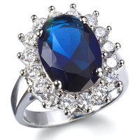 Kate Inspired Sapphire Blue Engagement Ring - As Seen On Good Morning America