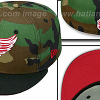 Red Wings '2T CAMO' Army-Black Fitted Hats by New Era