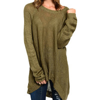 Olive Long-Sleeve Sweater | zulily
