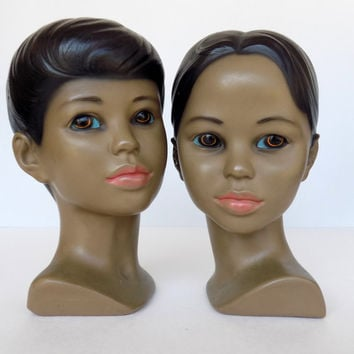 Vintage Pair of Holland Busts - Racially Ambiguous Youth