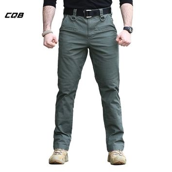 CQB Outdoor Sports Tactical Combat Military Men's Pants TAD Cotton Trousers for Hiking Training Hunting Climbing Overalls