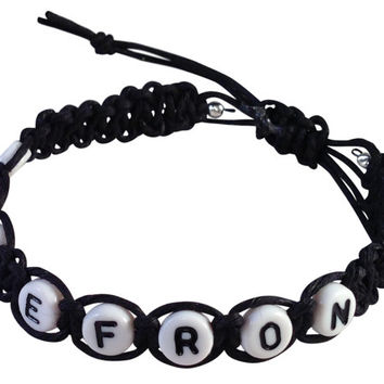 ZAC EFRON Girls Hemp Bracelet Black or Beige Handmade Friendship Surfer Casual