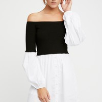 Free People Chunky Rib Sweater Mini Dress