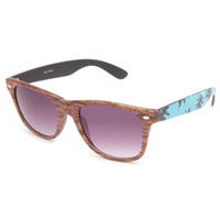 Blue Crown Bali Palms Sunglasses Wood One Size For Men 23409246101