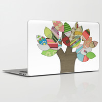 Button Tree Laptop & iPad Skin by Erin Brie Art