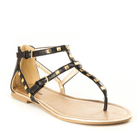 Studded Cage Buckled Sandals