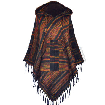 Himalayan Triangle Poncho Hoodie on Sale for $29.95 at HippieShop.com