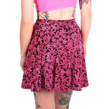 SALE Sweet Leaf Circle Skirt - glows under UV light!