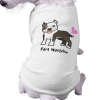 Fart Machine (Pitbull/Am Staffordshire Terrier) Dog Tee Shirt from Zazzle.com