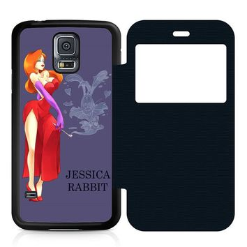 Jessica Rabbit Cartoon Leather Wallet Flip Case Samsung Galaxy S5