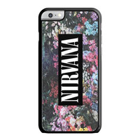 Nirvana On Floral Art, Kurt Cobain, Dave Grohl iPhone 6 Case