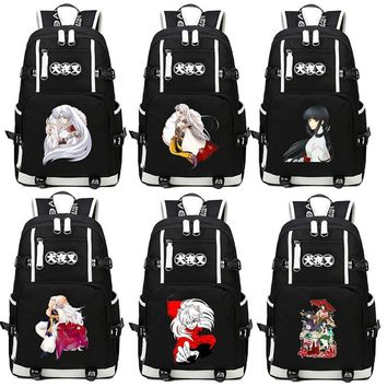 Japan Anime Inuyasha Backpack Cartoon School Bag Student Bags Shoulder Anti Water Boy Girls Students book bag package