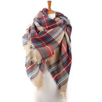 So Soft Blanket Scarf, Plaid blanket scarf, oversized plaid scarf, tartan Scarf, Zara style plaid scarf, blanket scarves