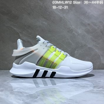 DCCK A562 Adidas EQT Cushion ADV Mesh Knit Fashion Running Shoes White Fluorescence