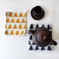 Northern European Style Handmade Crochet tree Teapot Coaster