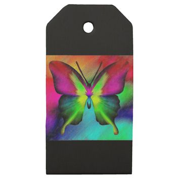 Butterfly Wooden Gift Tags