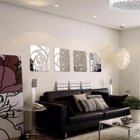 Mirrored Rose Wall Decoration