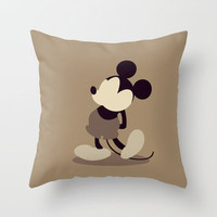 Walt Disney's Mickey Mouse Throw Pillow by Bluebird Design | Society6