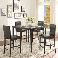 TEMPE PUB TABLE AND 4 CHAIR DINING SET – HOBO