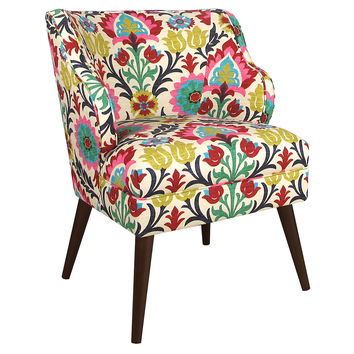 Kira Cotton Chair, Pink/Multi, Accent & Occasional Chairs
