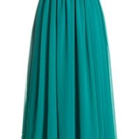 PrettyDresses Women's Long V Neck Dark Green Prom Dress Bridesmaid Dress
