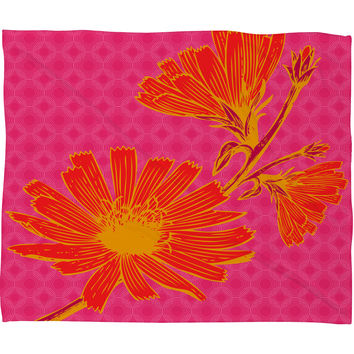 Caroline Okun Bold Chickory Fleece Throw Blanket