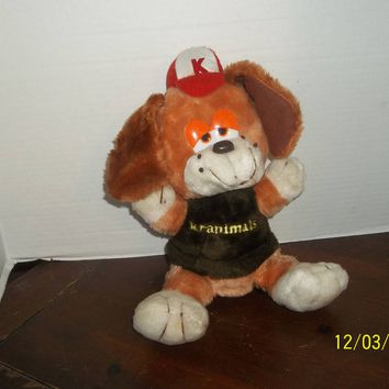 "vintage 1980's kranimals kmart puppy dog plush 15"" tall"