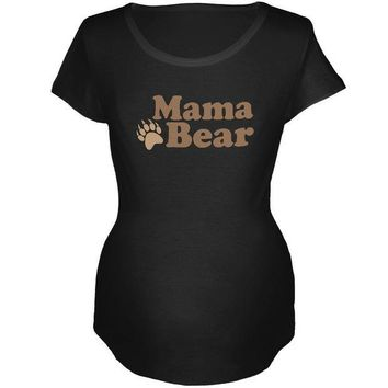 LMFCY8 Mother's Day Mama Bear Maternity Soft T Shirt